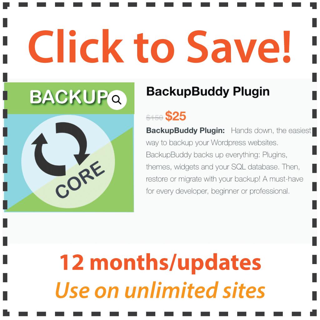 BackupBuddy Coupon Code